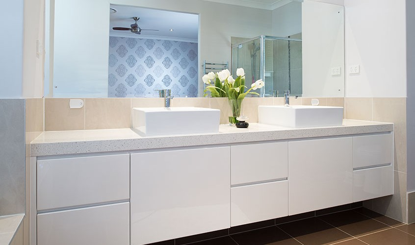 Bathroom vanities viva cabinets for Kitchen cabinets brisbane
